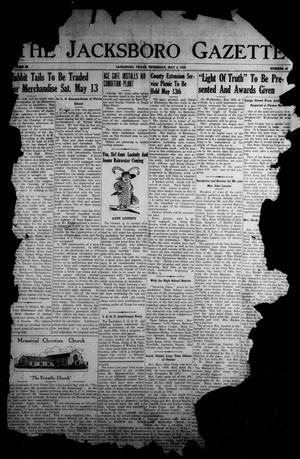 Primary view of object titled 'The Jacksboro Gazette (Jacksboro, Tex.), Vol. 59, No. 48, Ed. 1 Thursday, May 4, 1939'.
