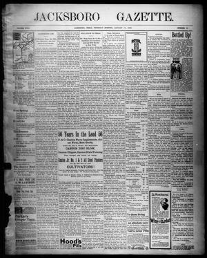 Primary view of object titled 'Jacksboro Gazette. (Jacksboro, Tex.), Vol. 18, No. 33, Ed. 1 Thursday, January 13, 1898'.