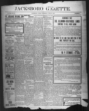 Primary view of object titled 'Jacksboro Gazette. (Jacksboro, Tex.), Vol. 28, No. 4, Ed. 1 Thursday, June 27, 1907'.