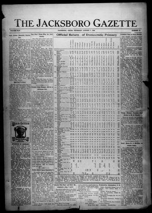 Primary view of object titled 'The Jacksboro Gazette (Jacksboro, Tex.), Vol. 45, No. 10, Ed. 1 Thursday, August 7, 1924'.