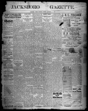 Primary view of object titled 'Jacksboro Gazette. (Jacksboro, Tex.), Vol. 14, No. 26, Ed. 1 Thursday, December 21, 1893'.