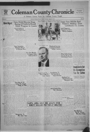 Primary view of object titled 'Coleman County Chronicle (Coleman, Tex.), Vol. 2, No. 29, Ed. 1 Thursday, August 9, 1934'.