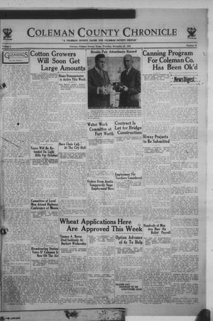 Primary view of Coleman County Chronicle (Coleman, Tex.), Vol. 1, No. 45, Ed. 1 Thursday, November 23, 1933