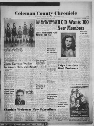 Primary view of Coleman County Chronicle (Coleman, Tex.), Vol. 18, No. 9, Ed. 1 Thursday, February 9, 1950