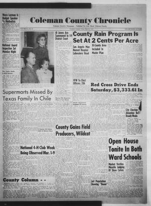 Primary view of object titled 'Coleman County Chronicle (Coleman, Tex.), Vol. 20, No. 10, Ed. 1 Thursday, March 6, 1952'.
