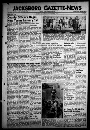 Primary view of object titled 'Jacksboro Gazette-News (Jacksboro, Tex.), Vol. 71, No. 31, Ed. 1 Thursday, December 28, 1950'.