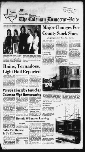 Primary view of The Coleman Democrat-Voice (Coleman, Tex.), Vol. 104, No. 22, Ed. 1 Tuesday, October 9, 1984