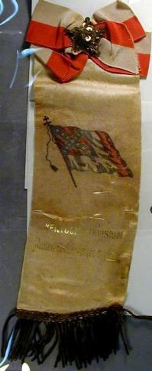 "Primary view of object titled '[""United Confederate Veterans"" ribbon]'."