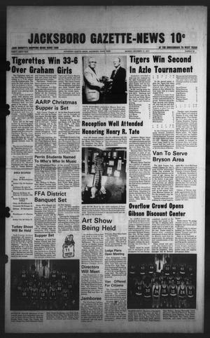 Primary view of object titled 'Jacksboro Gazette-News (Jacksboro, Tex.), Vol. 99, No. 30, Ed. 1 Monday, December 12, 1977'.