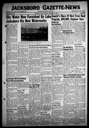 Primary view of object titled 'Jacksboro Gazette-News (Jacksboro, Tex.), Vol. 71, No. 25, Ed. 1 Thursday, November 16, 1950'.