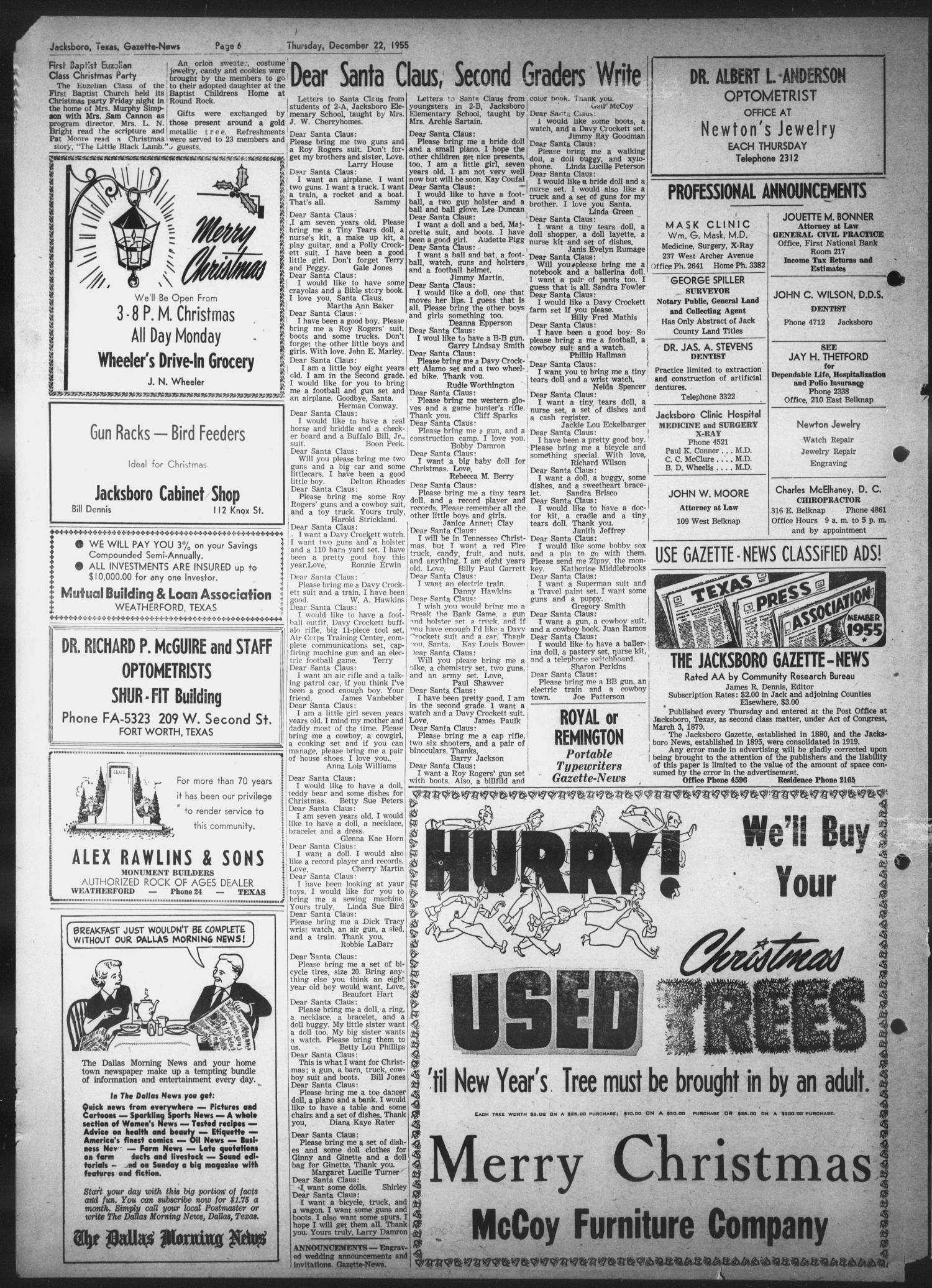 Jacksboro Gazette-News (Jacksboro, Tex.), Vol. 76, No. 30, Ed. 1 ...