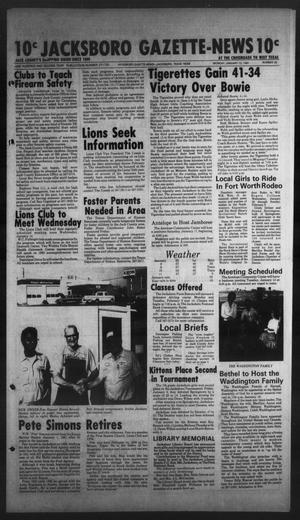 Primary view of object titled 'Jacksboro Gazette-News (Jacksboro, Tex.), Vol. 102, No. 35, Ed. 1 Monday, January 12, 1981'.