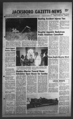 Primary view of object titled 'Jacksboro Gazette-News (Jacksboro, Tex.), Vol. ONE HUNDRED AND FIFTH YEAR, No. 13, Ed. 1 Monday, August 5, 1985'.