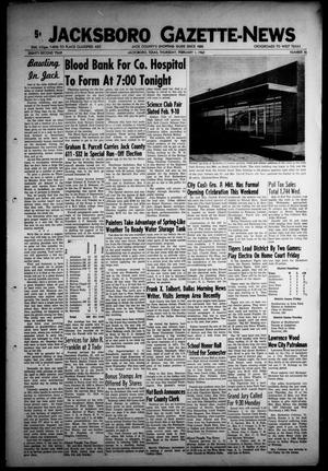 Primary view of object titled 'Jacksboro Gazette-News (Jacksboro, Tex.), Vol. EIGHTY-SECOND YEAR, No. 36, Ed. 0 Thursday, February 1, 1962'.