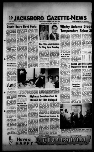 Primary view of object titled 'Jacksboro Gazette-News (Jacksboro, Tex.), Vol. 93, No. 26, Ed. 1 Monday, November 20, 1972'.