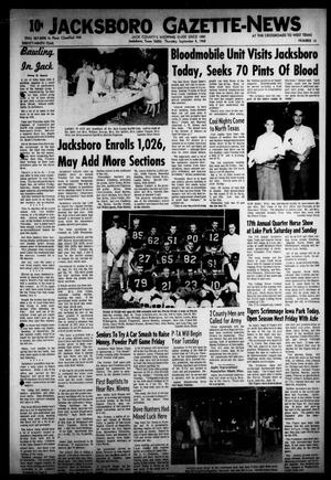 Primary view of object titled 'Jacksboro Gazette-News (Jacksboro, Tex.), Vol. EIGHTY-NINTH YEAR, No. 14, Ed. 0 Thursday, September 5, 1968'.