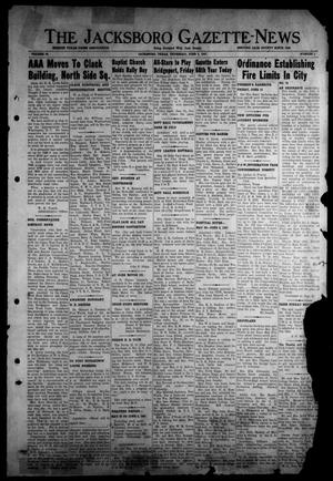 Primary view of object titled 'The Jacksboro Gazette-News (Jacksboro, Tex.), Vol. 68, No. 1, Ed. 1 Thursday, June 5, 1947'.