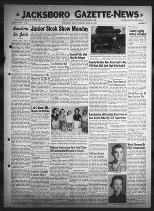 Primary view of object titled 'Jacksboro Gazette-News (Jacksboro, Tex.), Vol. 75, No. 48, Ed. 1 Thursday, April 28, 1955'.