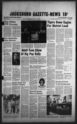 Primary view of object titled 'Jacksboro Gazette-News (Jacksboro, Tex.), Vol. 99, No. 24, Ed. 1 Monday, October 31, 1977'.