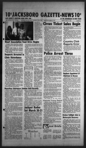 Primary view of object titled 'Jacksboro Gazette-News (Jacksboro, Tex.), Vol. 102, No. 44, Ed. 1 Monday, March 16, 1981'.