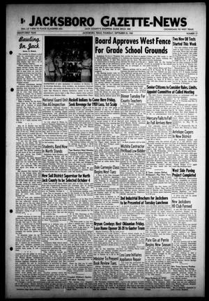 Primary view of object titled 'Jacksboro Gazette-News (Jacksboro, Tex.), Vol. 81, No. 17, Ed. 1 Thursday, September 22, 1960'.