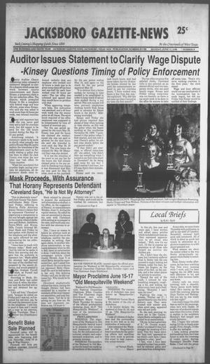 Primary view of object titled 'Jacksboro Gazette-News (Jacksboro, Tex.), Vol. 110, No. 6, Ed. 1 Monday, June 11, 1990'.