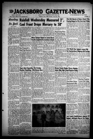 Primary view of object titled 'Jacksboro Gazette-News (Jacksboro, Tex.), Vol. EIGHTY-SIXTH YEAR, No. 13, Ed. 1 Thursday, August 25, 1966'.