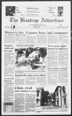 Primary view of object titled 'The Bastrop Advertiser (Bastrop, Tex.), Vol. 137, No. 66, Ed. 1 Thursday, October 11, 1990'.