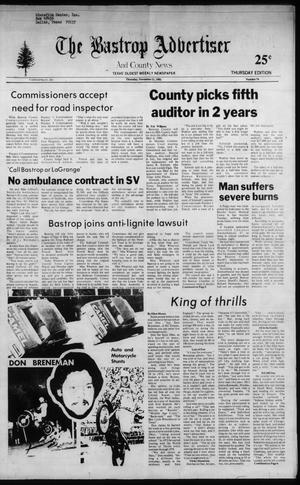 Primary view of object titled 'The Bastrop Advertiser and County News (Bastrop, Tex.), No. 73, Ed. 1 Thursday, November 11, 1982'.