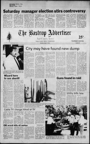 Primary view of object titled 'The Bastrop Advertiser and County News (Bastrop, Tex.), No. 47, Ed. 1 Thursday, August 12, 1982'.