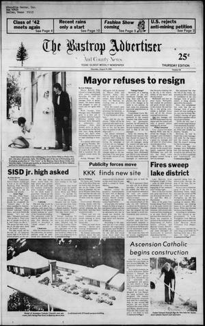 Primary view of object titled 'The Bastrop Advertiser and County News (Bastrop, Tex.), No. 49, Ed. 1 Thursday, August 19, 1982'.