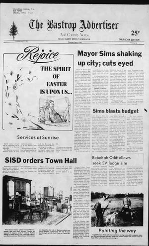 Primary view of object titled 'The Bastrop Advertiser and County News (Bastrop, Tex.), No. 12, Ed. 1 Thursday, April 8, 1982'.