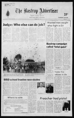 Primary view of object titled 'The Bastrop Advertiser and County News (Bastrop, Tex.), No. 10, Ed. 1 Thursday, April 1, 1982'.