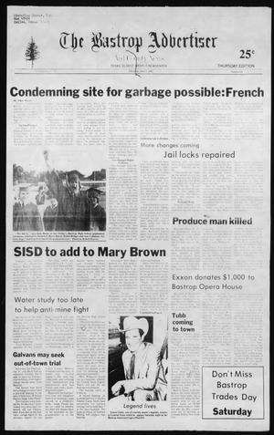 Primary view of object titled 'The Bastrop Advertiser and County News (Bastrop, Tex.), No. 27, Ed. 1 Thursday, June 3, 1982'.