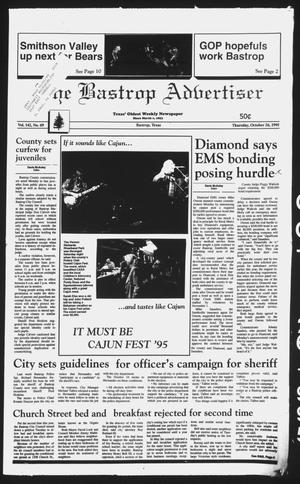 Primary view of object titled 'The Bastrop Advertiser (Bastrop, Tex.), Vol. 142, No. 69, Ed. 1 Thursday, October 26, 1995'.