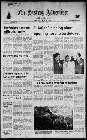 Primary view of object titled 'The Bastrop Advertiser and County News (Bastrop, Tex.), No. 62, Ed. 1 Thursday, September 30, 1982'.