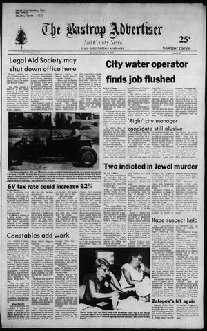 Primary view of object titled 'The Bastrop Advertiser and County News (Bastrop, Tex.), No. 56, Ed. 1 Thursday, September 9, 1982'.