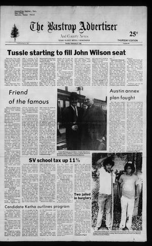 Primary view of object titled 'The Bastrop Advertiser and County News (Bastrop, Tex.), No. 60, Ed. 1 Thursday, September 23, 1982'.