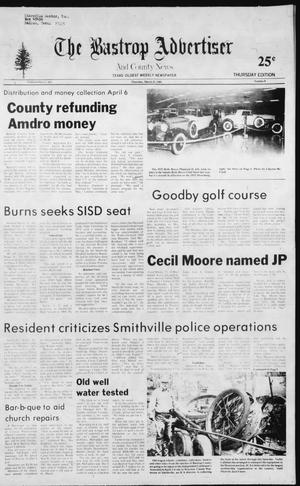 Primary view of object titled 'The Bastrop Advertiser and County News (Bastrop, Tex.), No. 8, Ed. 1 Thursday, March 25, 1982'.