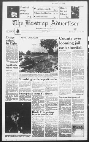 Primary view of object titled 'The Bastrop Advertiser (Bastrop, Tex.), Vol. 137, No. 76, Ed. 1 Thursday, November 15, 1990'.