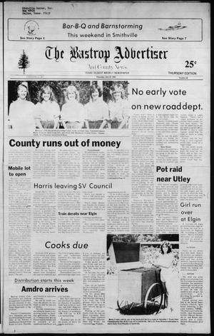 Primary view of object titled 'The Bastrop Advertiser and County News (Bastrop, Tex.), No. 40, Ed. 1 Thursday, July 15, 1982'.