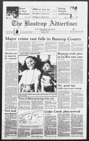 Primary view of object titled 'The Bastrop Advertiser (Bastrop, Tex.), Vol. 137, No. 63, Ed. 1 Thursday, October 4, 1990'.