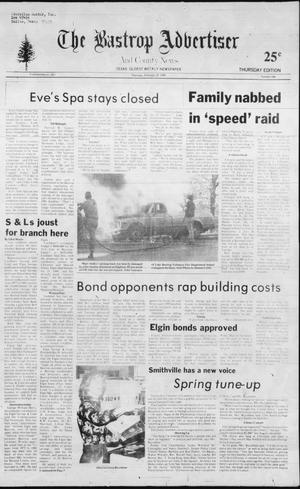 Primary view of object titled 'The Bastrop Advertiser and County News (Bastrop, Tex.), No. 104, Ed. 1 Thursday, February 25, 1982'.