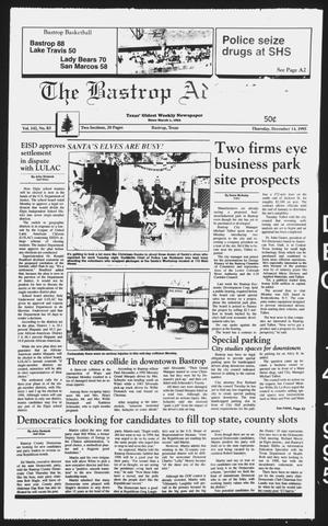 Primary view of object titled 'The Bastrop Advertiser (Bastrop, Tex.), Vol. 142, No. 83, Ed. 1 Thursday, December 14, 1995'.