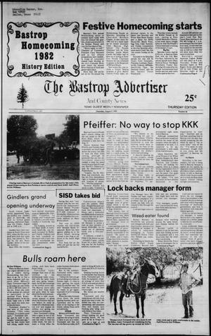 Primary view of object titled 'The Bastrop Advertiser and County News (Bastrop, Tex.), No. 46, Ed. 1 Thursday, August 5, 1982'.