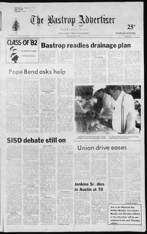 Primary view of object titled 'The Bastrop Advertiser and County News (Bastrop, Tex.), No. 26, Ed. 1 Thursday, May 27, 1982'.