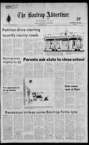 Primary view of object titled 'The Bastrop Advertiser and County News (Bastrop, Tex.), No. 38, Ed. 1 Thursday, July 8, 1982'.