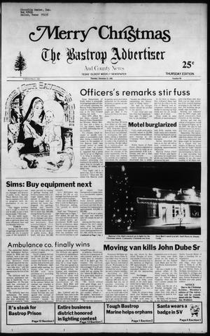 Primary view of object titled 'The Bastrop Advertiser and County News (Bastrop, Tex.), No. 85, Ed. 1 Thursday, December 23, 1982'.