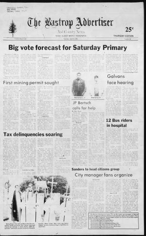 Primary view of object titled 'The Bastrop Advertiser and County News (Bastrop, Tex.), No. 18, Ed. 1 Thursday, April 29, 1982'.