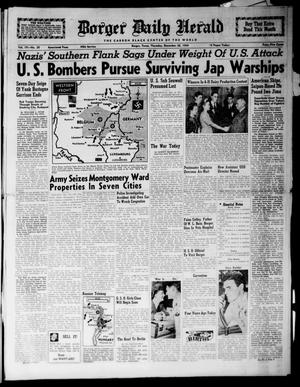 Primary view of Borger Daily Herald (Borger, Tex.), Vol. 19, No. 30, Ed. 1 Thursday, December 28, 1944